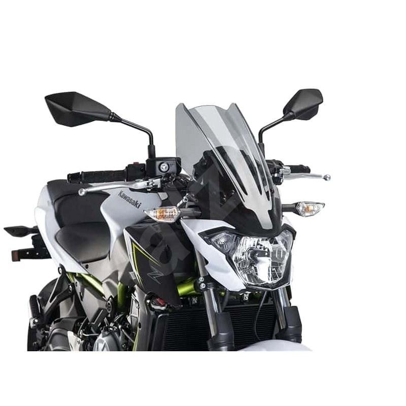 PUIG NEW. GEN TOURING füstszínű, KAWASAKI Z 650-hez (2017-2019) - Motorkerékpár plexi-szélvédő