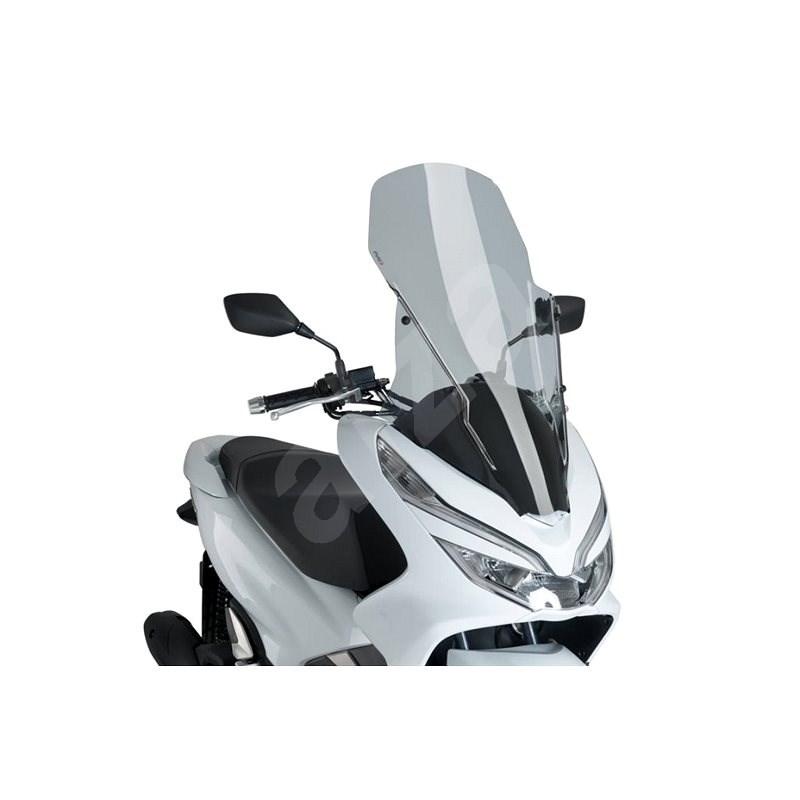 PUIG V-TECH LINE TOURING füstszínű, HONDA PCX 125-hez (2018-2019) - Motorkerékpár plexi-szélvédő