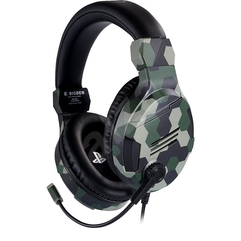 BigBen PS4 Stereo-Headset v3, zöld - Gamer fejhallgató