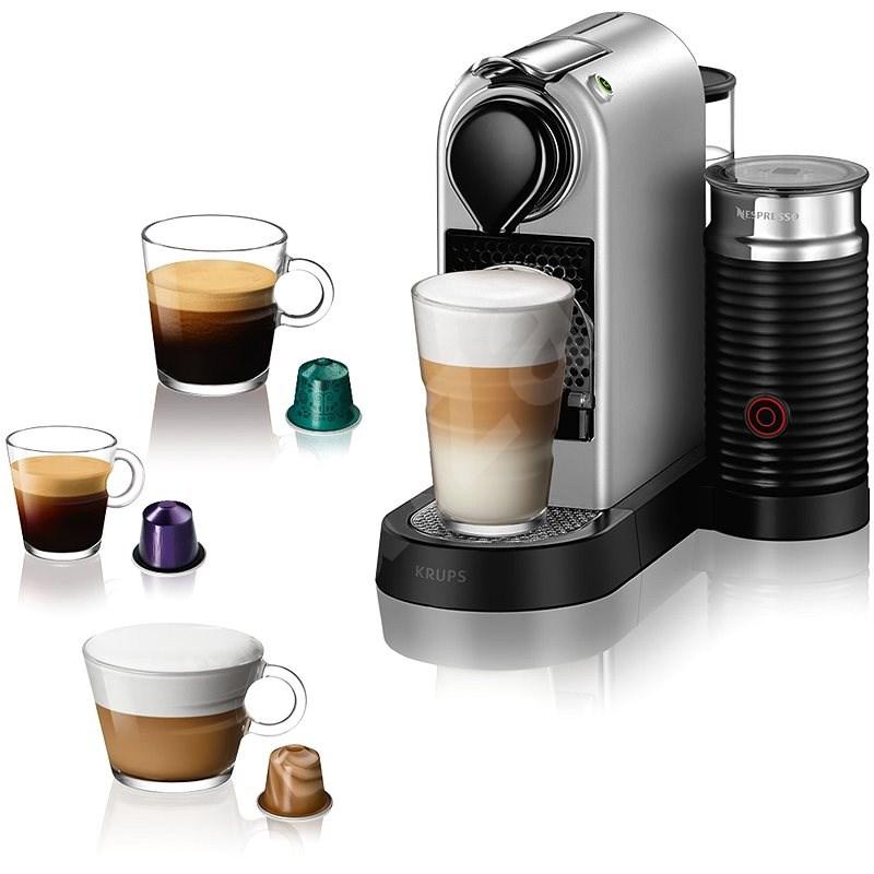 NESPRESSO Krups Citiz & Milk XN761B10, ezüst - Kapszulás kávéfőző