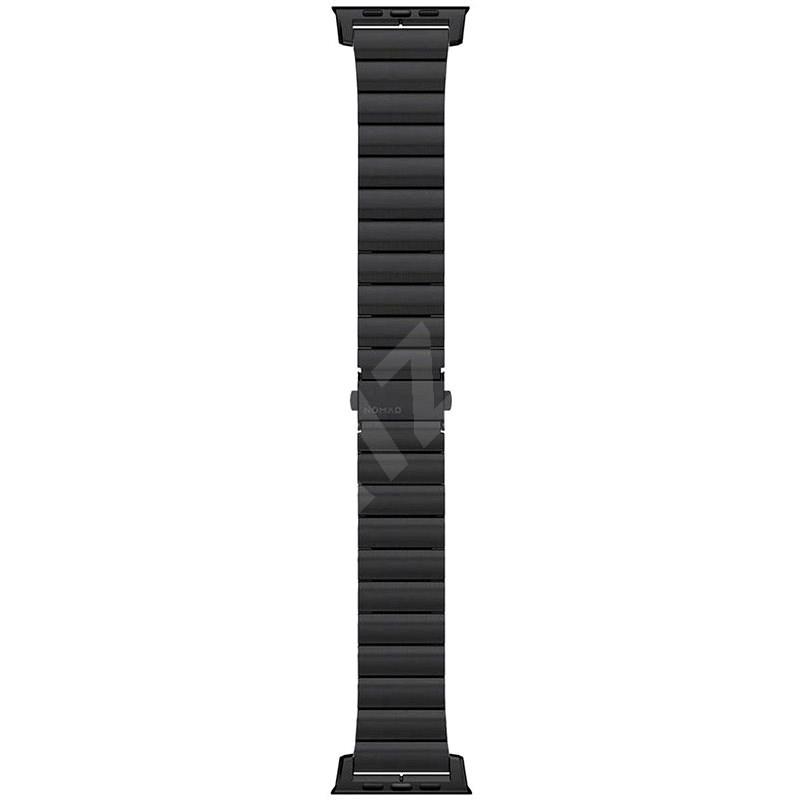 Nomad Steel Strap Black Apple Watch 6/SE/5/4/3/2/1 44/42mm - Szíj
