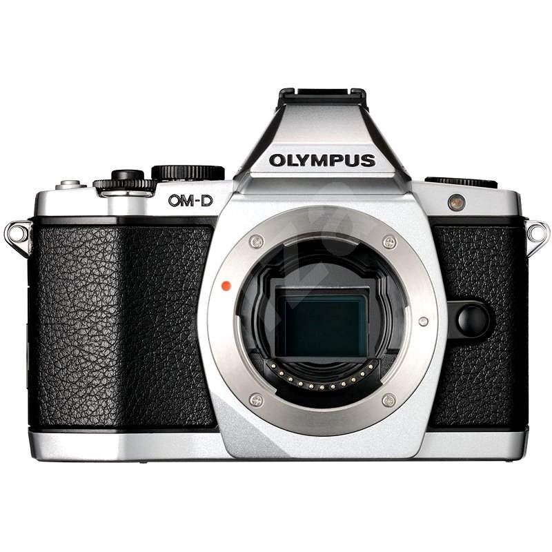 Olympus E-M5 + 12-50 mm objektív ezüst / fekete - Digitális fényképezőgép