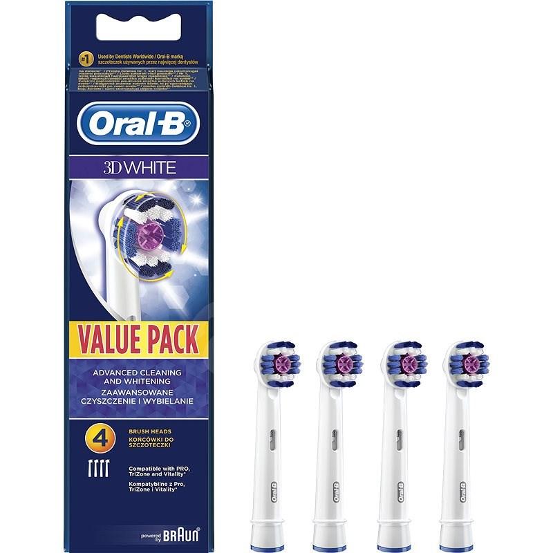 Oral-B 3DWhite Fogkefefej 4 Db - Pótfej