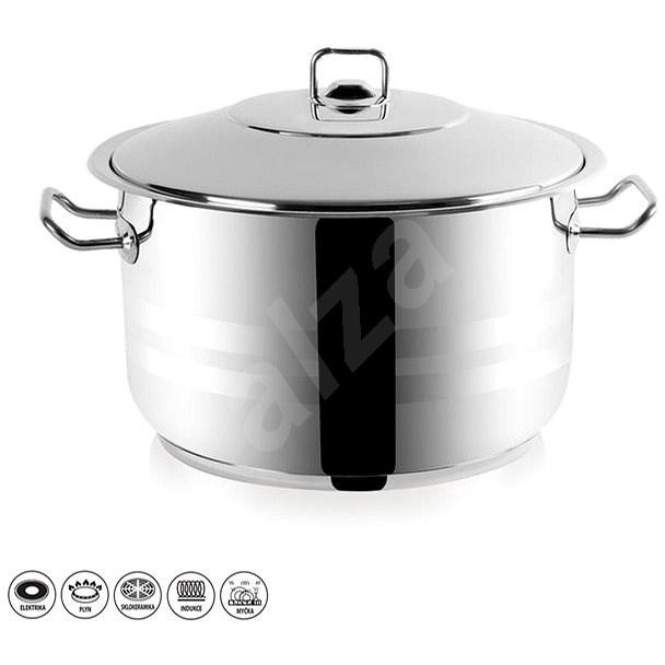 Gastro rozsdamentes acél edény fedővel  22 l - Edény