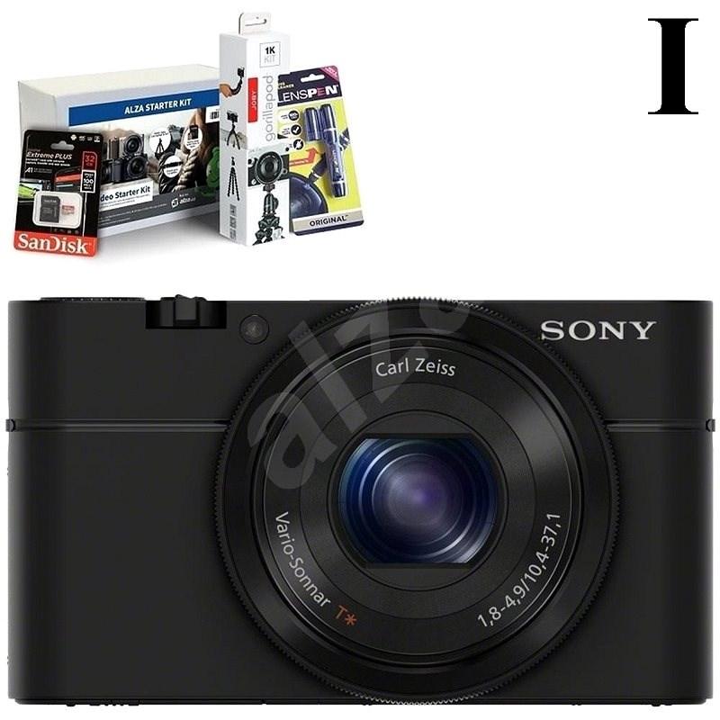 SONY DSC-RX100 + Alza Foto Video Starter Kit - Digitális fényképezőgép