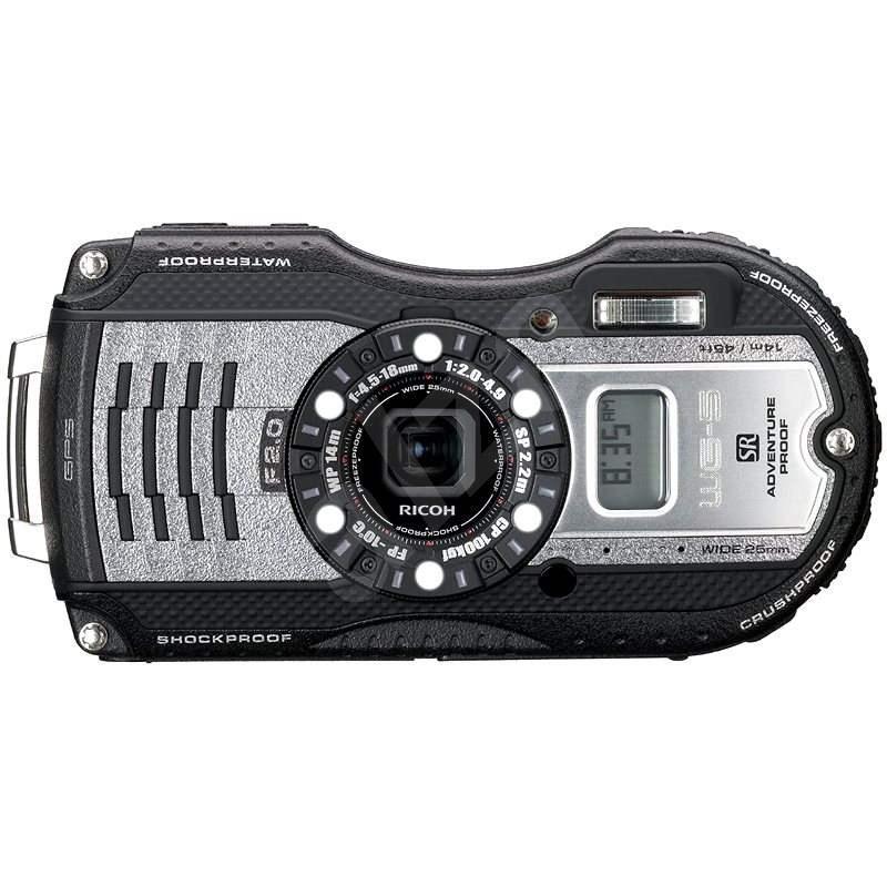 PENTAX RICOH WG-5 GPS Gun fémes + 16 GB-os SD kártya + tok + neoprén úszni tanga - Digitális fényképezőgép