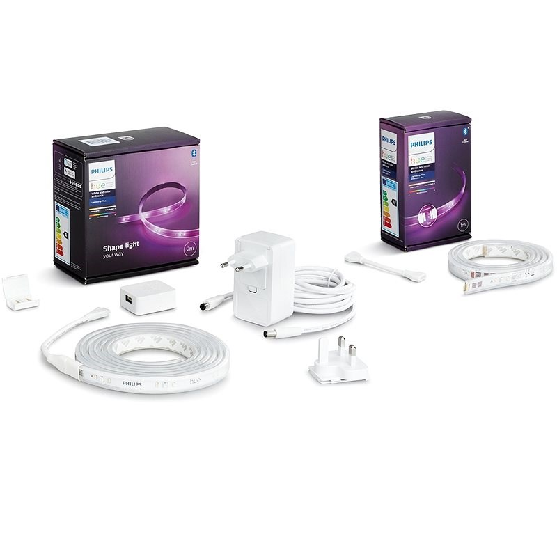 Philips Hue LightStrip Plus v4 + Philips Hue LightStrip Plus v4 extension - Okos világítás készlet