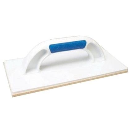 KUBALA műanyag vakolókanál 280x140 mm, fehér nemez - Vakolat simító