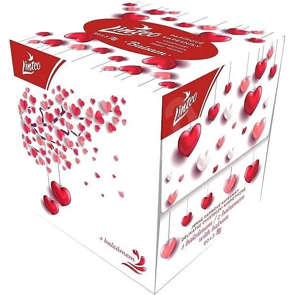 LINTEO BOX Szerelembe esés ideje - balzsammal (60 db) - Papírzsebkendő
