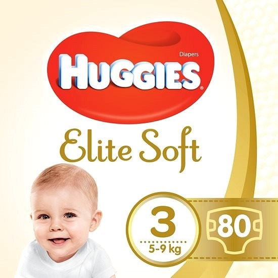 HUGGIES Elite Soft, 3-as méret (80 db) - Pelenka