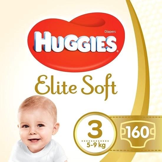 HUGGIES Elite Soft, 3-as méret (160 db) - Pelenka