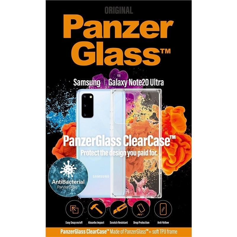 PanzerGlass ClearCase AntiBacterial Samsung Galaxy Note 20 Ultra 5G-hez - Mobiltelefon hátlap