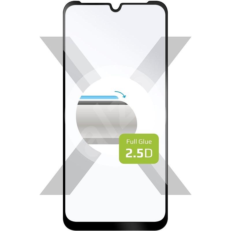 FIXED FullGlue-Cover -  Motorola Moto E6i fekete - Képernyővédő