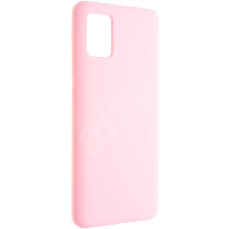 FIXED Flow Liquid Silicon case - Samsung Galaxy A51 rózsaszín - Mobiltelefon hátlap