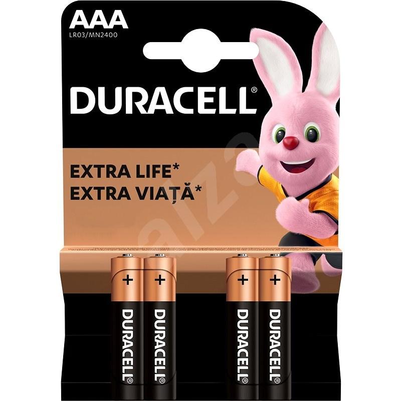 Duracell Basic alkáli AAA ceruzaelem 4 db - Eldobható elem