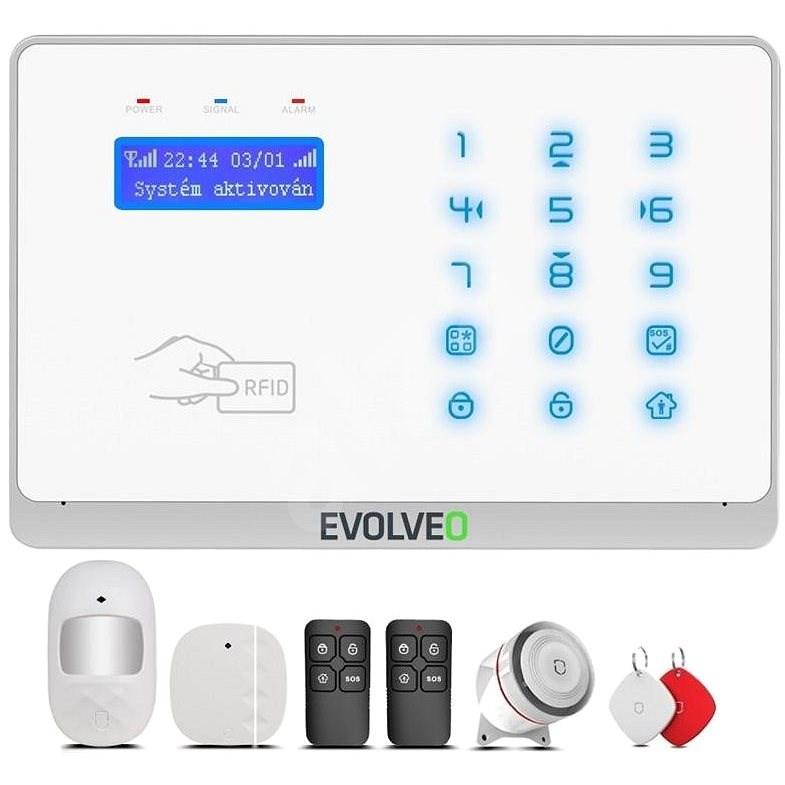 EVOLVEO Salvarix - vezeték nélküli WiFi és GSM riasztó RFID olvasóval - Riasztó