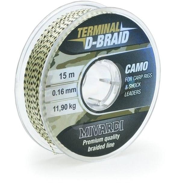 Mivardi Terminal D-Braid Camo 0,26mm 15m - Zsinór