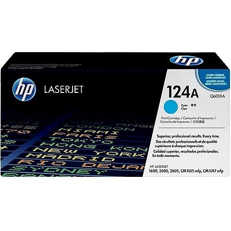 HP Q6001A sz. 124A cián - Toner