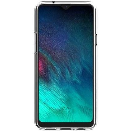 Samsung félig átlátszó hátlap a Galaxy A20s készülékhez, átlátszó - Mobiltelefon hátlap
