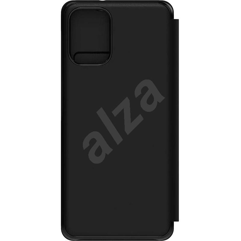 Samsung flip tok Galaxy A12 fekete - Mobiltelefon tok
