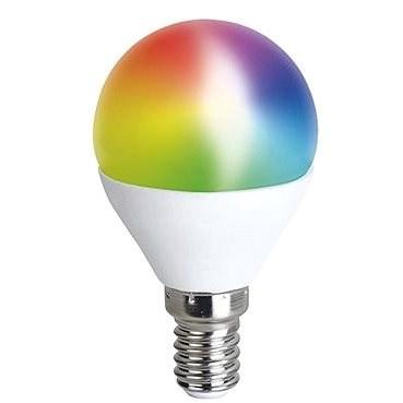 Solight LED SMART WIFI izzó, miniglobe, 5W, E14, RGB, 400lm - LED izzó
