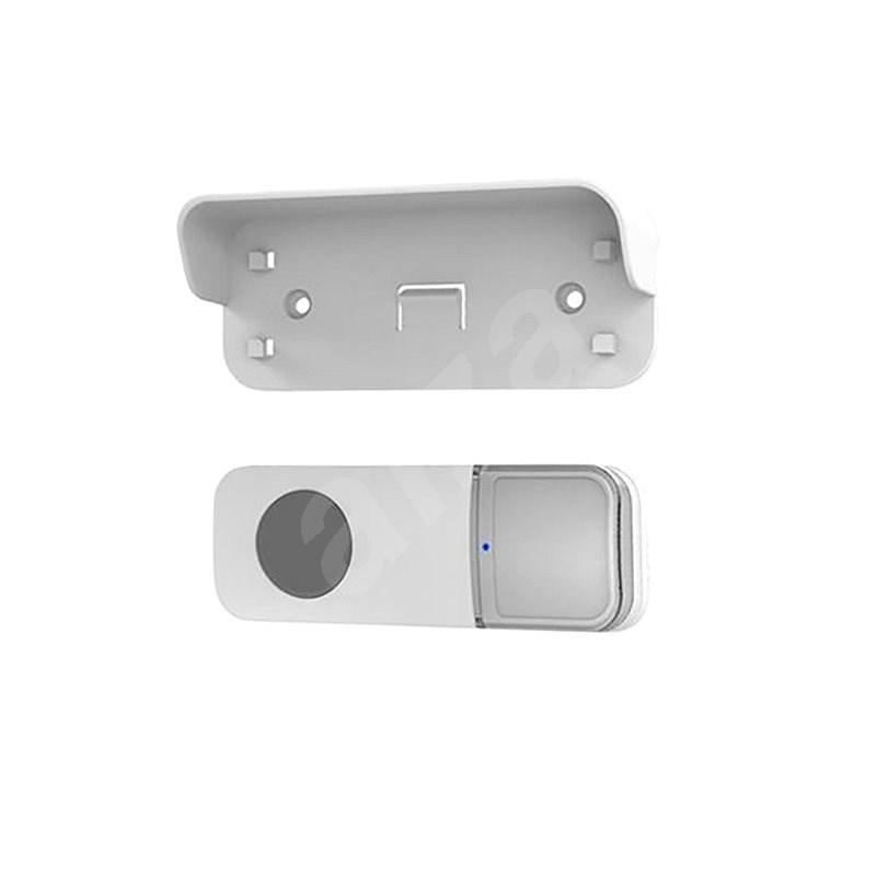 Solight vezeték nélküli gomb az 1L67 sorozathoz, 200 m, fehér, learning code, névtábla fedél - Okos gomb