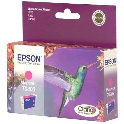 Epson T0803 bíbor - Tintapatron