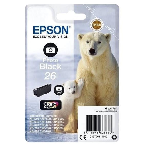 Epson T2611 fekete fotó - Tintapatron