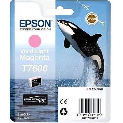 Epson T7606 világos vivid magenta - Tintapatron