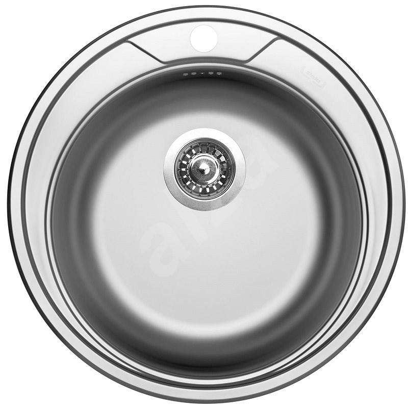 SINKS ROUND 510 V 0,6 mm matt - Rozsdamentes acél mosogató