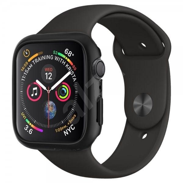 Spigen Thin Fit Black Apple Watch 6/SE/5/4 44mm - Védőtok