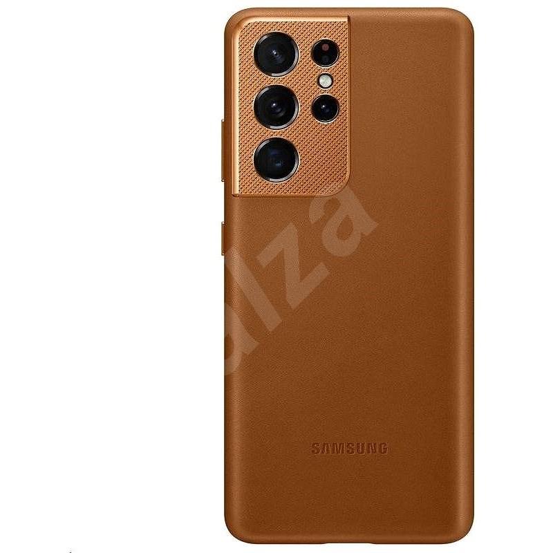 Samsung bőr tok a Galaxy S21 készülékhez  Ultra Brown - Mobiltelefon hátlap