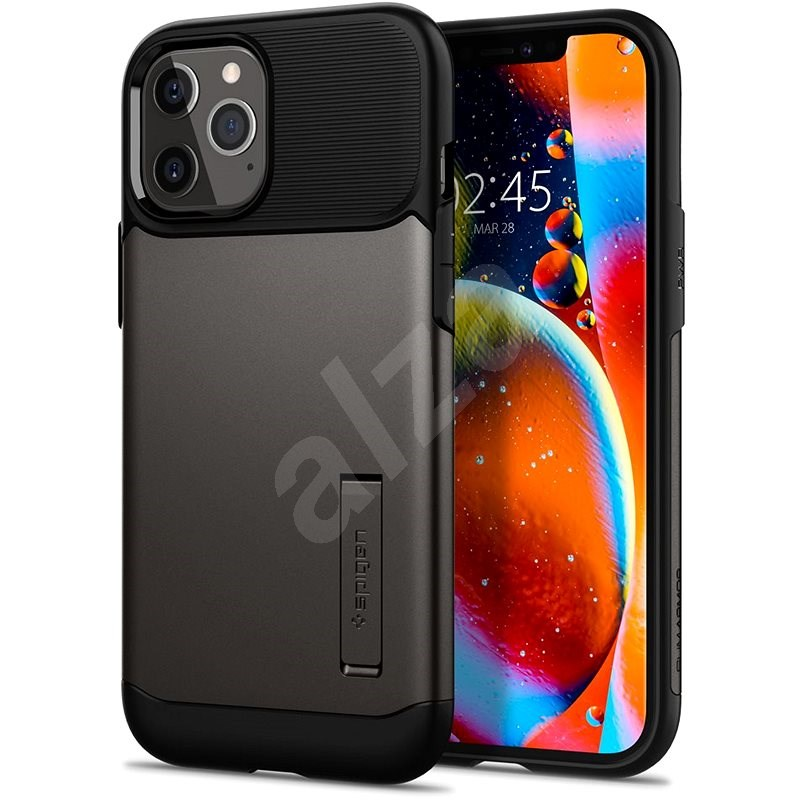 Spigen Slim Armor Gunmetal iPhone 12 Pro Max - Mobiltelefon hátlap