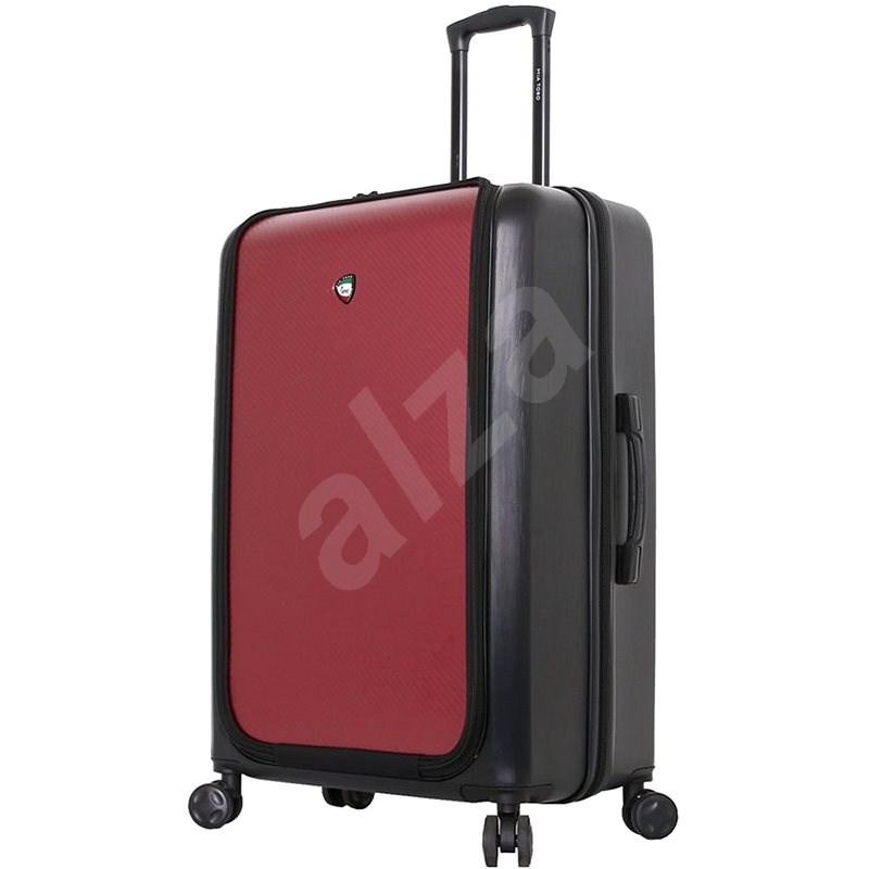 MIA TORO M1709/2-L utazóbőrönd - fekete/bordó - TSA záras bőrönd