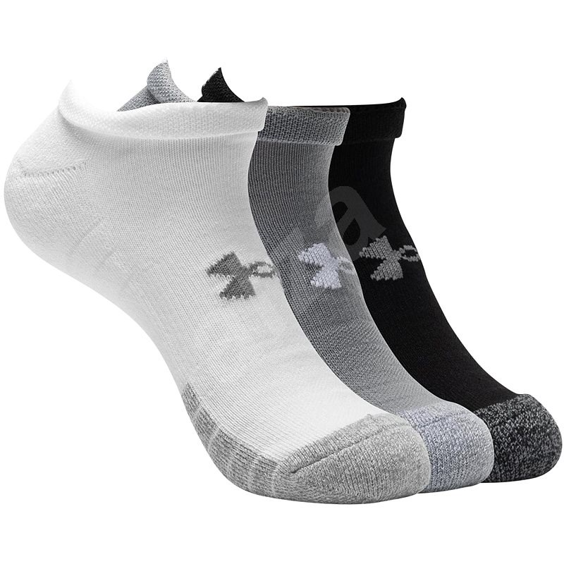 Under Armour Heatgear NS 3 pack white grey black, 46-48-as méret - Zokni