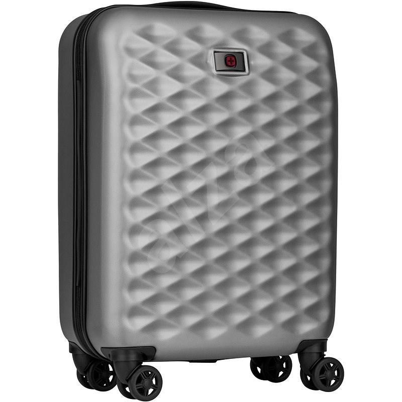 """WENGER Lumen 20"""" ezüst - TSA záras bőrönd"""