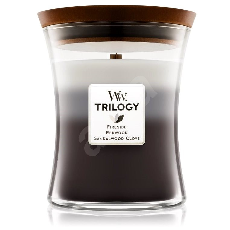 WOODWICK Trilogy Warm Woods Medium Candle 275 gramm - Gyertya