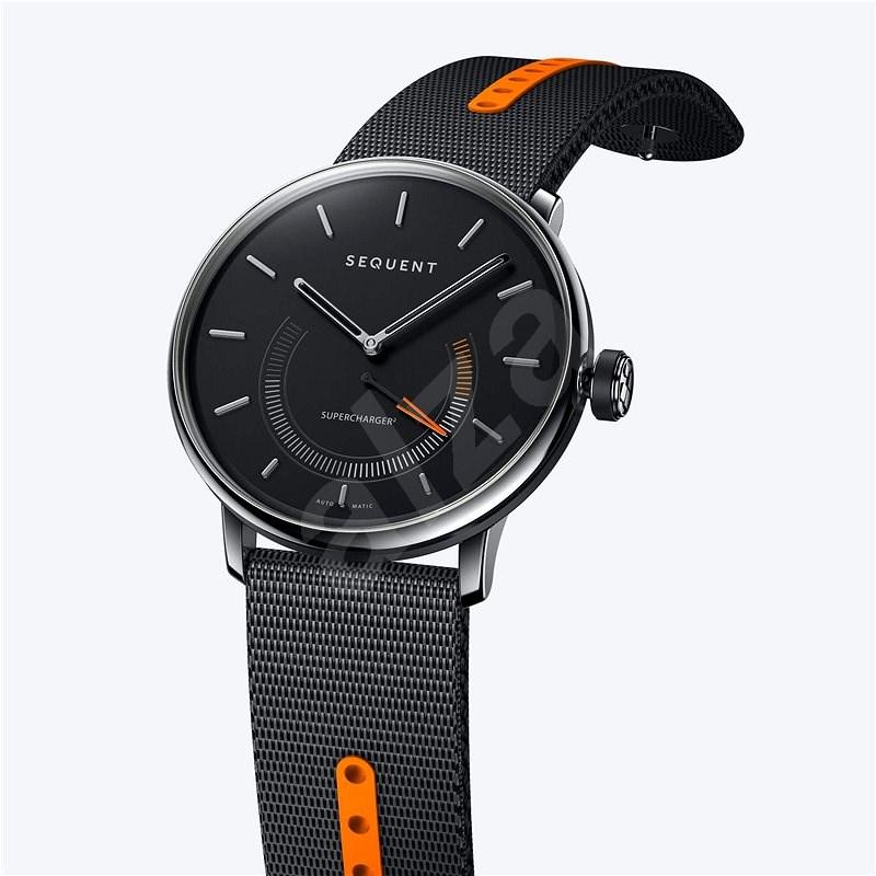 Sequent SuperCharger 2.1 Premium onyx fekete, fekete / narancs szíjjal - Okosóra
