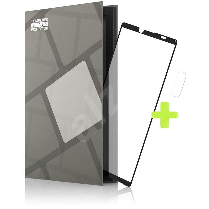 Tempered Glass Protector keretes Sony Xperia 10 III készülékre. fekete + kamera üveg - Képernyővédő