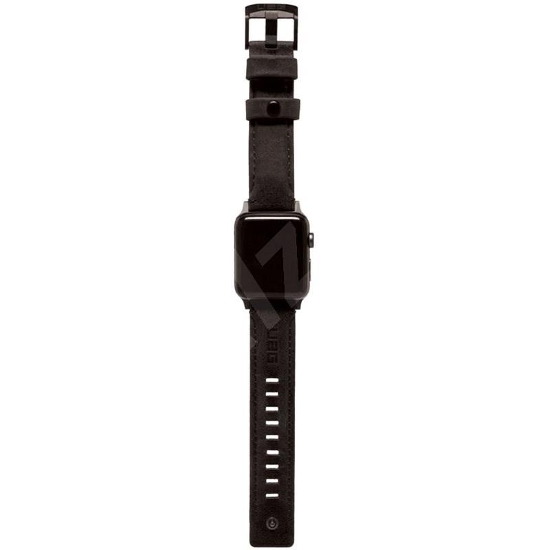 UAG Leather Strap Black Apple Watch 6/SE/5/4/3/2/1 44/42mm - Szíj