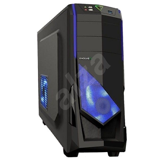 EVOLVEO R04 fekete/kék - Számítógépház