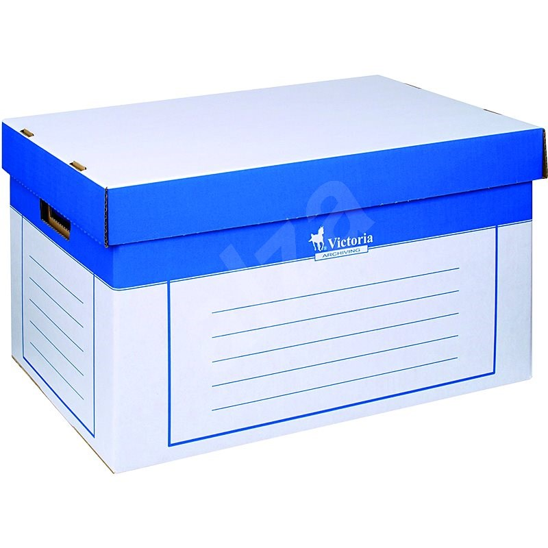 VICTORIA 26 x 46 x 32 cm, kék-fehér - 2 db-os csomag - Archiváló doboz
