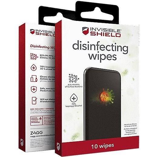 Zagg InvisibleShield fertőtlenítő törlőkendő 10 db - Fertőtlenítő