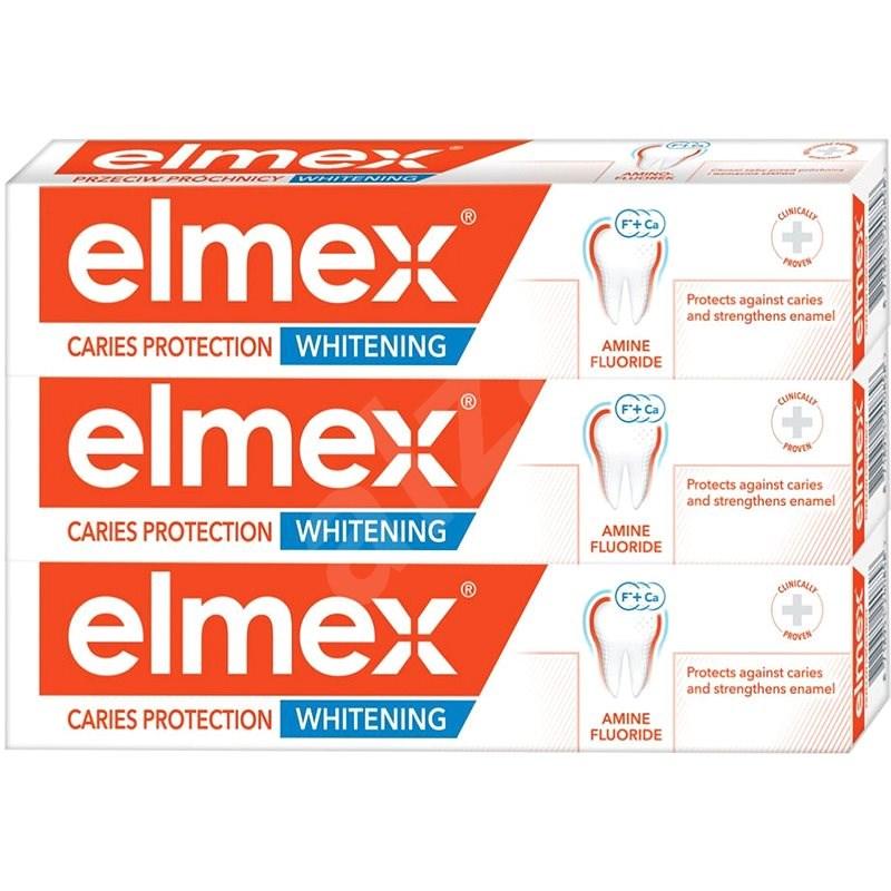 ELMEX Caries Protection Whitening 3 × 75 ml - Fogkrém