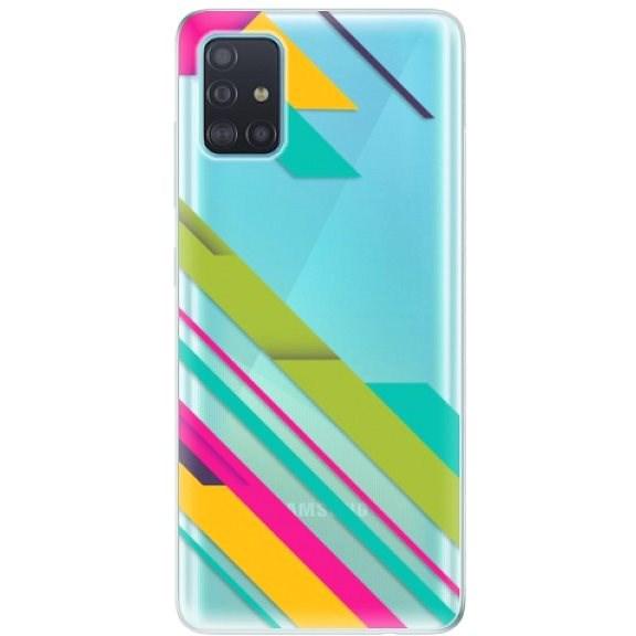 iSaprio Color Stripes 03 - Samsung Galaxy A51 készülékhez - Mobiltelefon hátlap