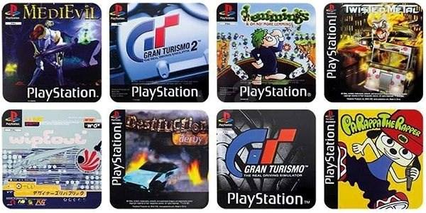 PlayStation - gamer poháralátétek - Alátét/szőnyeg