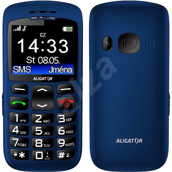 Aligator A670 Senior Blue - Mobiltelefon