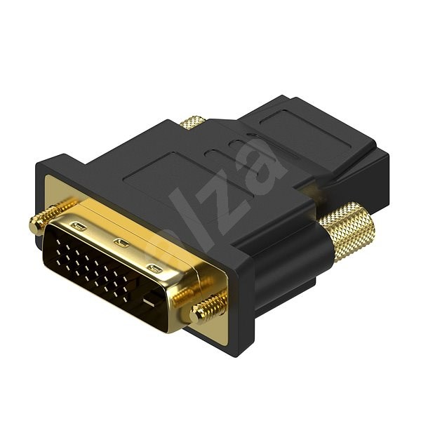 AlzaPower DVI-D (24+1) (M) - HDMI (F) - Átalakító