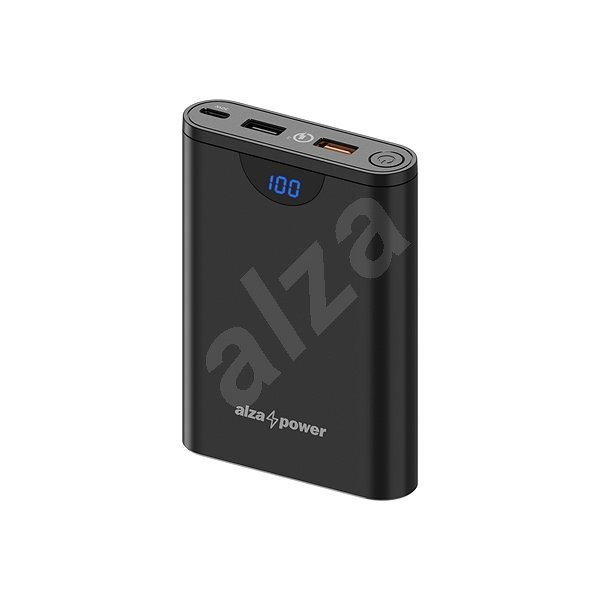 AlzaPower Unlimited 10.000mAh Power Delivery 3.0 (30W), fekete - Powerbank