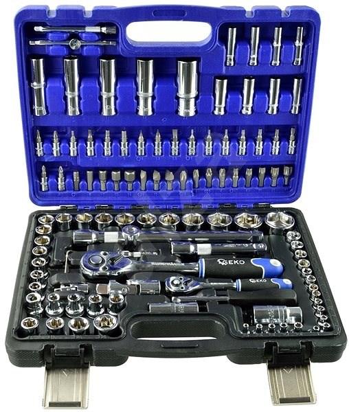 GEKO 108 részes gola készlet, CrV acél, professzionális bőrönd - Szerszámkészlet